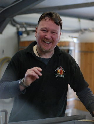 Photo of Russ Barnes, owner and head brewer at Red Fox