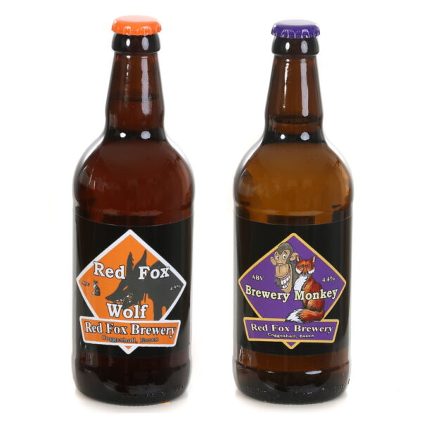 Bottles of Brewery Monkey and Wolf